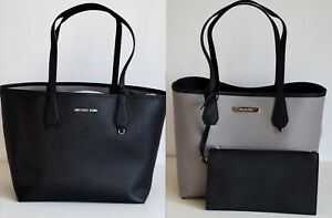 MICHAEL-KORS-Damen-Tasche-CANDY-LG-REVERSIBLE-TOTE-2-in-1-black-pearl-grey