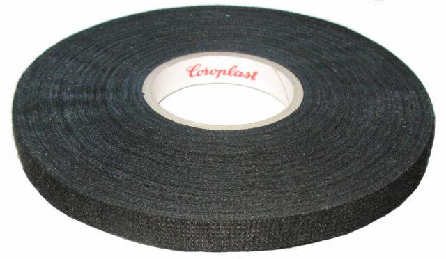 Coroplast Woven Tape with Fleece 8550, 9mm x 25 M Adhesive Fleece Tape Black
