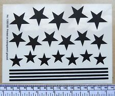 "Stars & stripes self-adhesive decal - black (6 x 4-1/2"")"