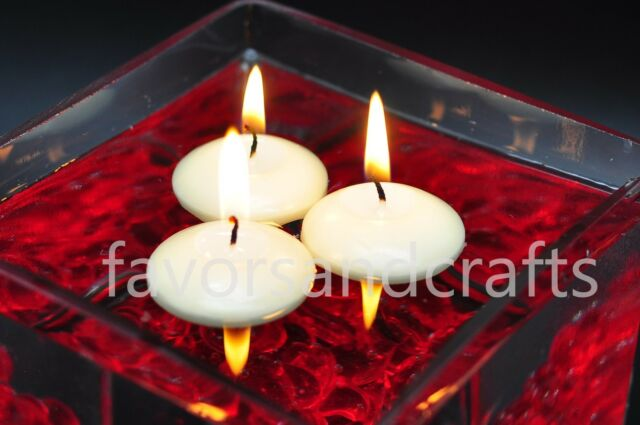 48 Floating Candles Lot IVORY Wedding Decorations Centerpieces Supplies Wax Bath