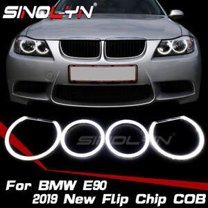 COB-LED-Angel-Eyes-Halo-Rings-Kit-For-BMW-E90-E91-E46-TI-Non-projector-Headlight