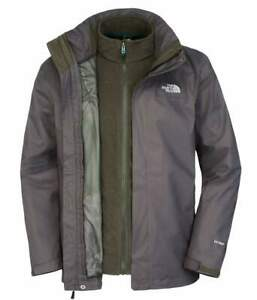 The-North-Face-Mens-Negro-Tinta-Verde-evolucionar-II-Triclimate-HyVent-CHAQUETA-TAMANO-XXL