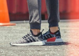online retailer 77239 79d2a Image is loading Adidas-NMD-R2-PK-Primeknit-Future-Harvest-Black-