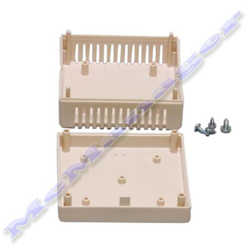 Gabinete De Plástico Abs 85x85x13mm Marfil Pequeña Caja de proyecto para circuito electrónico