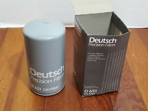 Deutsch-Oil-Lube-Filter-D651-Vehicle-Truck-Diesel-Engine-Maintenance-Spin-On