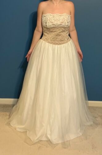 David's Bridal Ball Gown (size 10 - wedding gown)