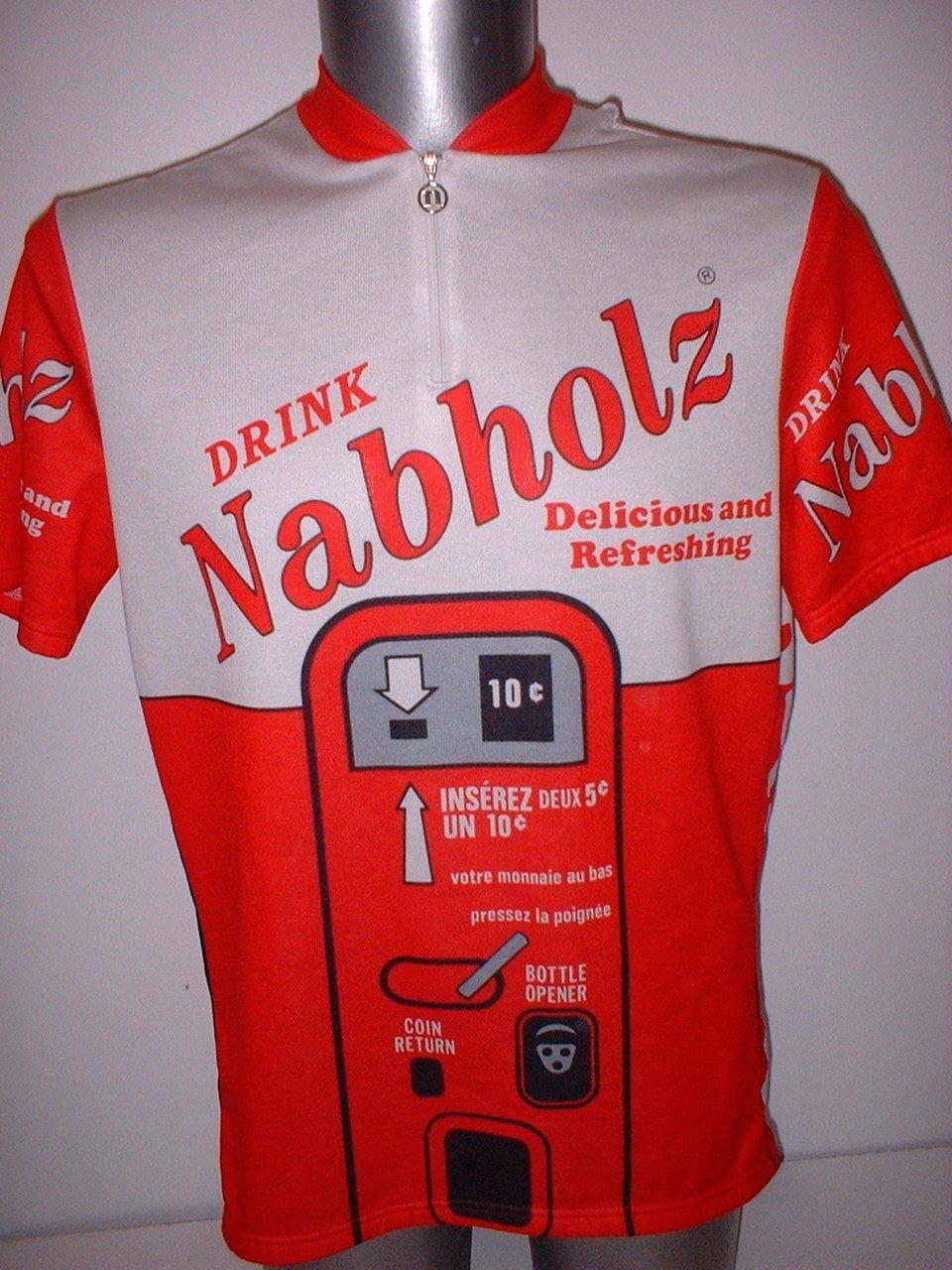 Nabholz Drink Shirt Jersey Adult XL Cycling Cycle Bike Ciclismo Top Mountain