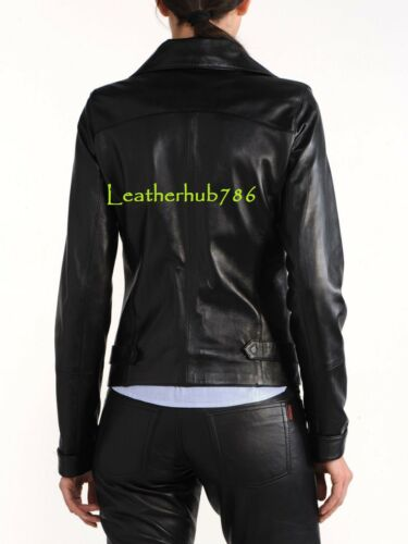 Office Casual Ladies Leather Party Lambskin 80 Women New Jacket Black Real Uw8FOqZ