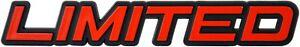 Auto-3D-Relief-Schild-LIMITED-Aufkleber-Emblem-12-cm-HR-Art-148053