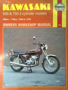 Haynes-Manual-0325-Kawasaki-KH500-amp-KH750-2-Stroke-Triples-LIMITED-RE-PRINT