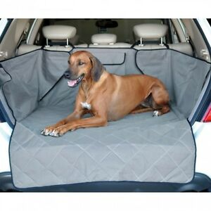 KH-Mfg-Washable-Quilted-SUV-Rear-Cargo-Liner-Cover-Dog-Pet-Bed-Gray-KH7867