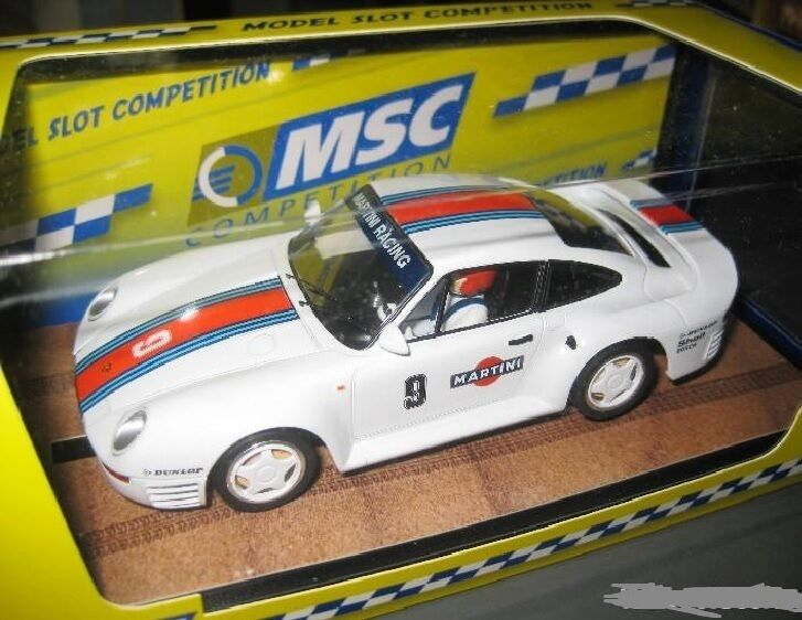 ANGEBOT MSC 6041 SLOT CAR PORSCHE 959  9 MARTINI MB NEU 1 32