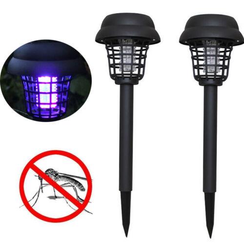 2X Mosquito Repellent Killer Lamp Solar Powered Garden LED Light Mosquito Pest