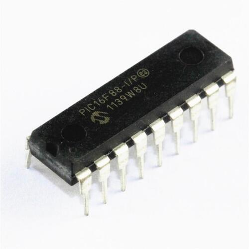 1PCS PIC16F88-I//P PIC16F88 IC MCU 8BIT 7KB FLASH DIP-18 NEW