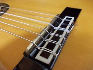 2 Chaque Ecrou En Laiton & Selle Pont Blanks Acoustic Bass Guitare Classique Alvarez-afficher Le Titre D'origine