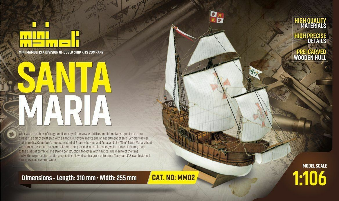 Mini Mamoli Santa Maria 1 125 (MM02) Model Boat Kit