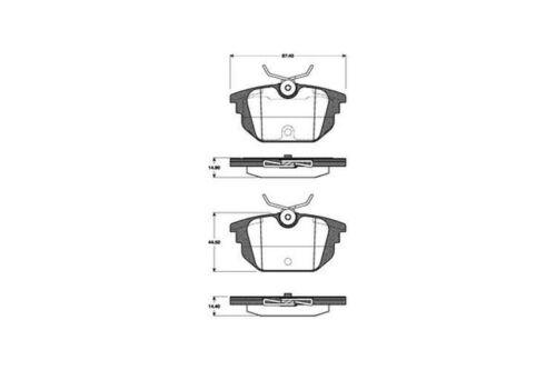 Plaquettes De Freins Bremsbelagsatz plaquettes de frein arrière 1958
