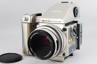 [Rare 40th anniversary N MINT] Bronica ETR-Si w/ AE-Ⅲ PE 75 mm F2.8 From JP #290
