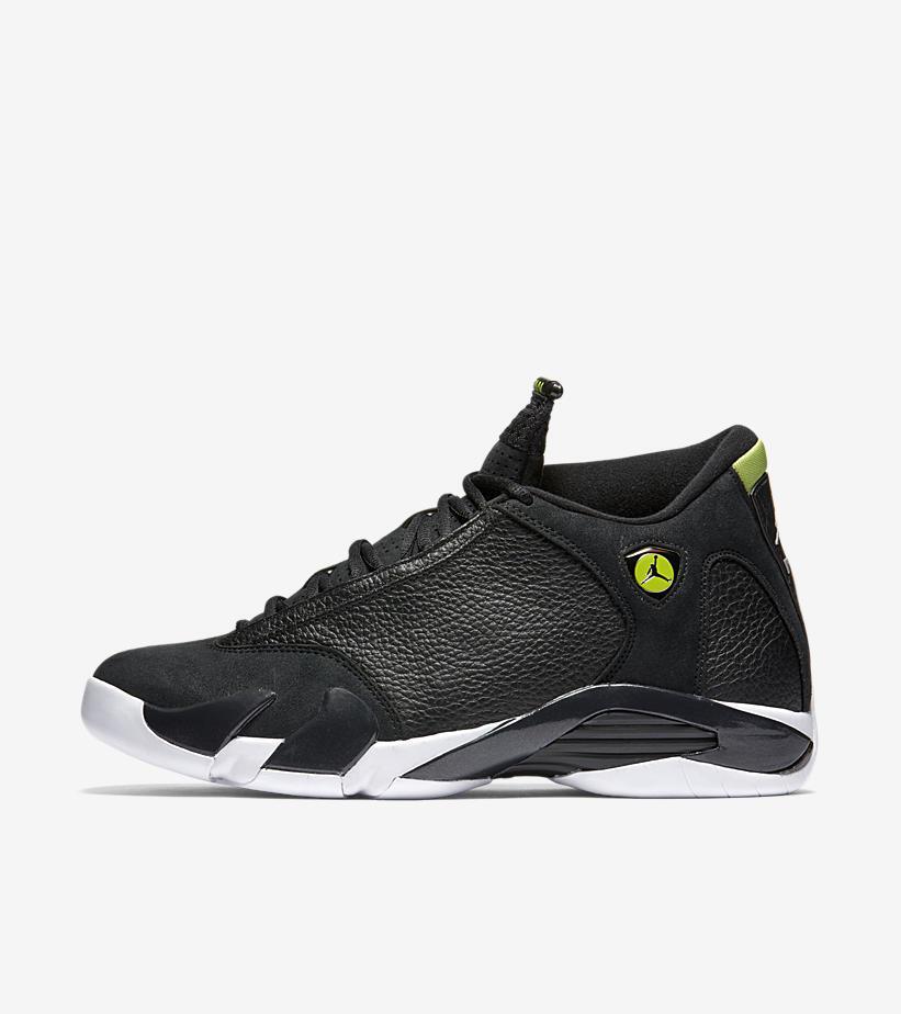 2016 Nike Air Jordan 14 XIV Retro size 9.5. Indiglo Black Vivid Green 487471-005