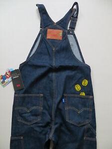 Levi-039-s-SUPER-MARIO-Latzhose-Latz-Jeans-Gr-M-W-34-L-32-NEU-Indigo-Overall