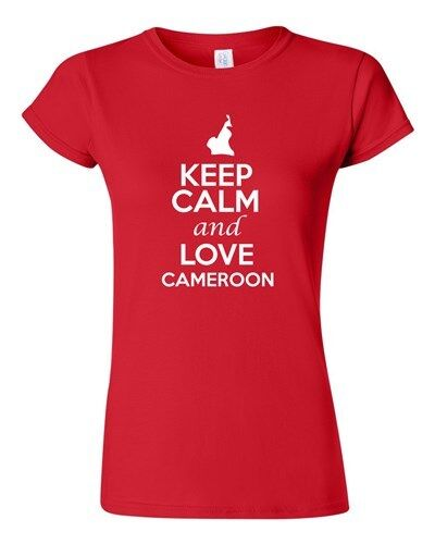 Junior Keep Calm And Love Cameroon Country Nation Patriotic Novelty T-Shirt Tee