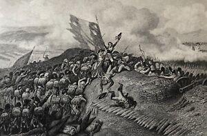 10064-French-Battle-of-Jemmapes-6-November-1792-Engraving-Steel-Xixth