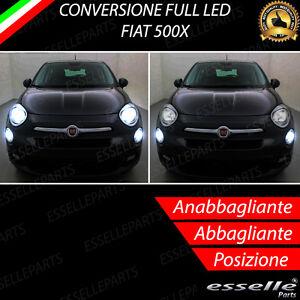 KIT-FARI-FULL-LED-FIAT-500X-ANABBAGLIANTI-ABBAGLIANTI-E-LUCI-POSIZIONE-6000K