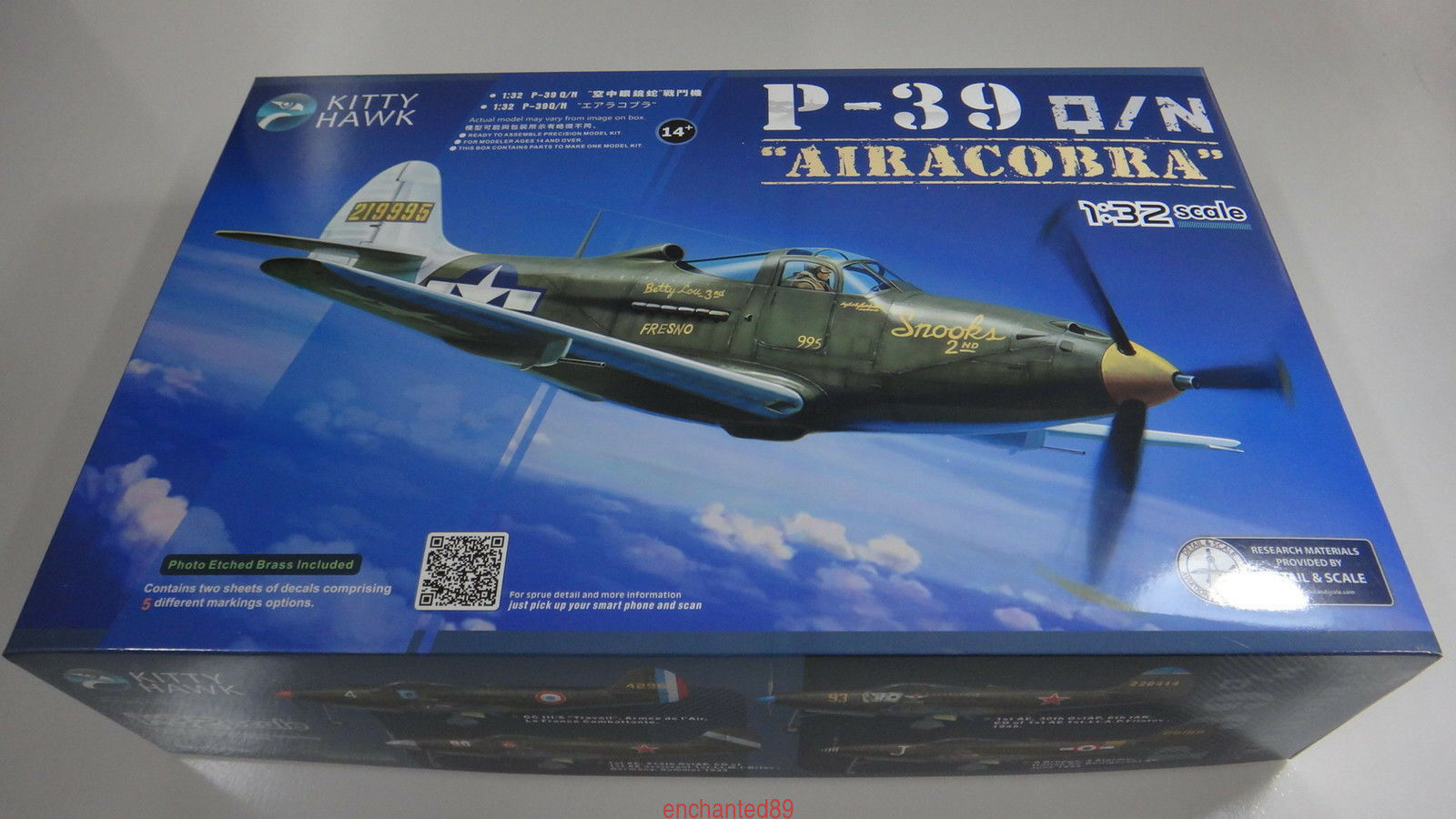 Kitty Hawk 32013 1 32 P-39Q N Airacobra 1943 New