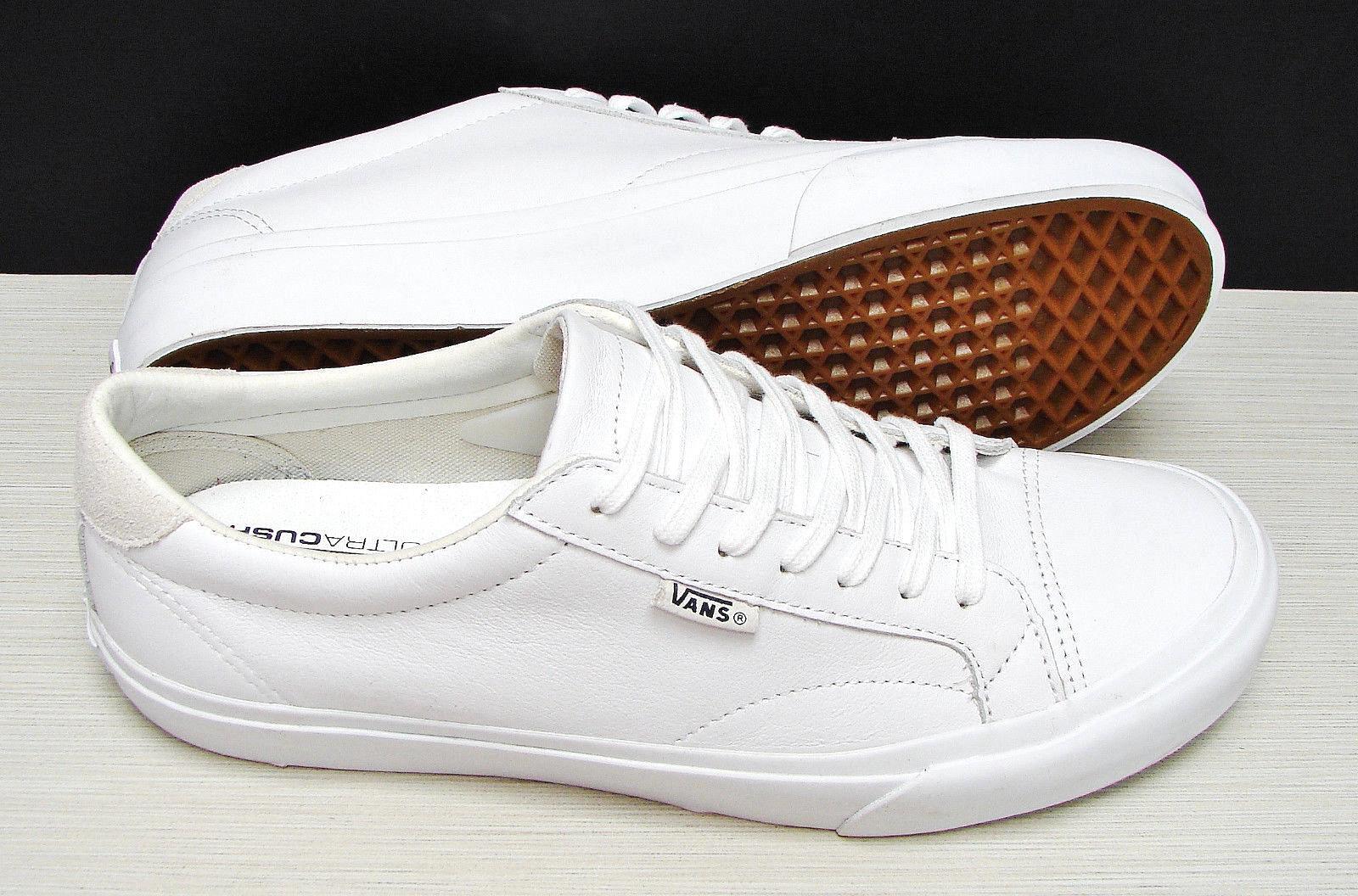 Vans Court DX Leather True White VN0A2Z5OL3H Men's Size: 7.5