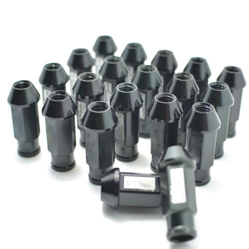BLACK JDM WHEEL LUG NUT FOR HONDA ACURA INTEGRA M12 X 1.5MM 20PCS