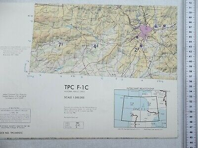 Large Scale Map Of France.Tactical Pilotage Chart Tpc F 1c Andorra France Spain Large Scale Map I Ebay