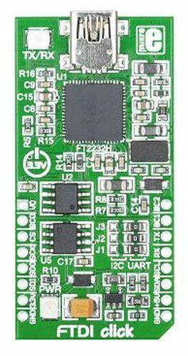 FT2232H FTDI click USB-to-UART//I2C//SPI mikroBUS Module