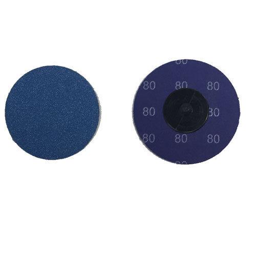 """50-3/"""" Roloc Zirconia Quick Change Sanding Disc 80 Grit"""