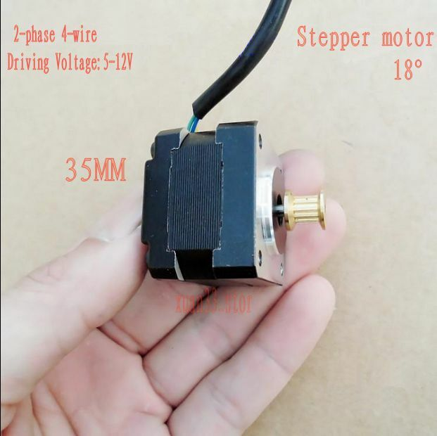 DC 5v~12v 35mm Stepper motor dual bearing small 2-phase 4-wire gear 3D printer