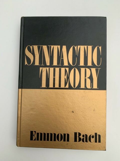Syntactic Theory by Bach, Emmon |Hardback Book | condition very good