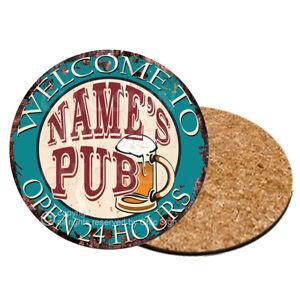 CP0112 Name/'s Pub Personalized Coasters Bar Pub Housewarming Gift Ideas