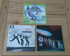 "1980s Prog Rock Job Lot 3x 7"" Singles Asia Genesis Marillion Picture Sleeves"