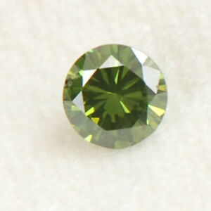 0.13CT Natural Blue Loose Diamond Amazing Round Shape With Free Certificate