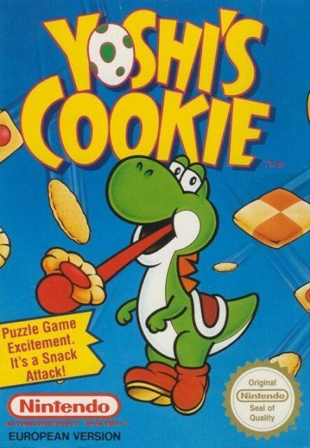 NES jeu - Yoshi's Cookie PAL-B dans l'emballage très bonne condition utilisé