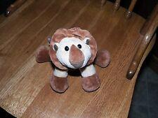 "Animal Alley Lion Plush Stuffed (Beanie Feet) Animal Tan Brown 7"" x 5""  CUTIE!"