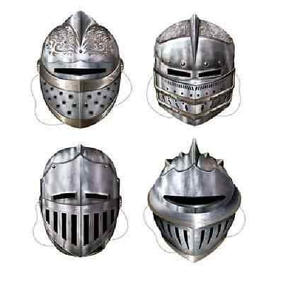 Knight Masks 4 Piece Medieval Time Party