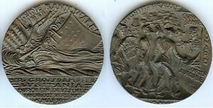 Medaille-de-table-RMS-LUSITANIA-5-may-1915-Karl-GOETZ-propagande-anti-Allemand