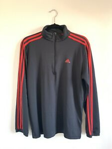Details about Adidas Clima 365 Mens Half Zip Long Sleeve Pullover Activewear Top Size Medium