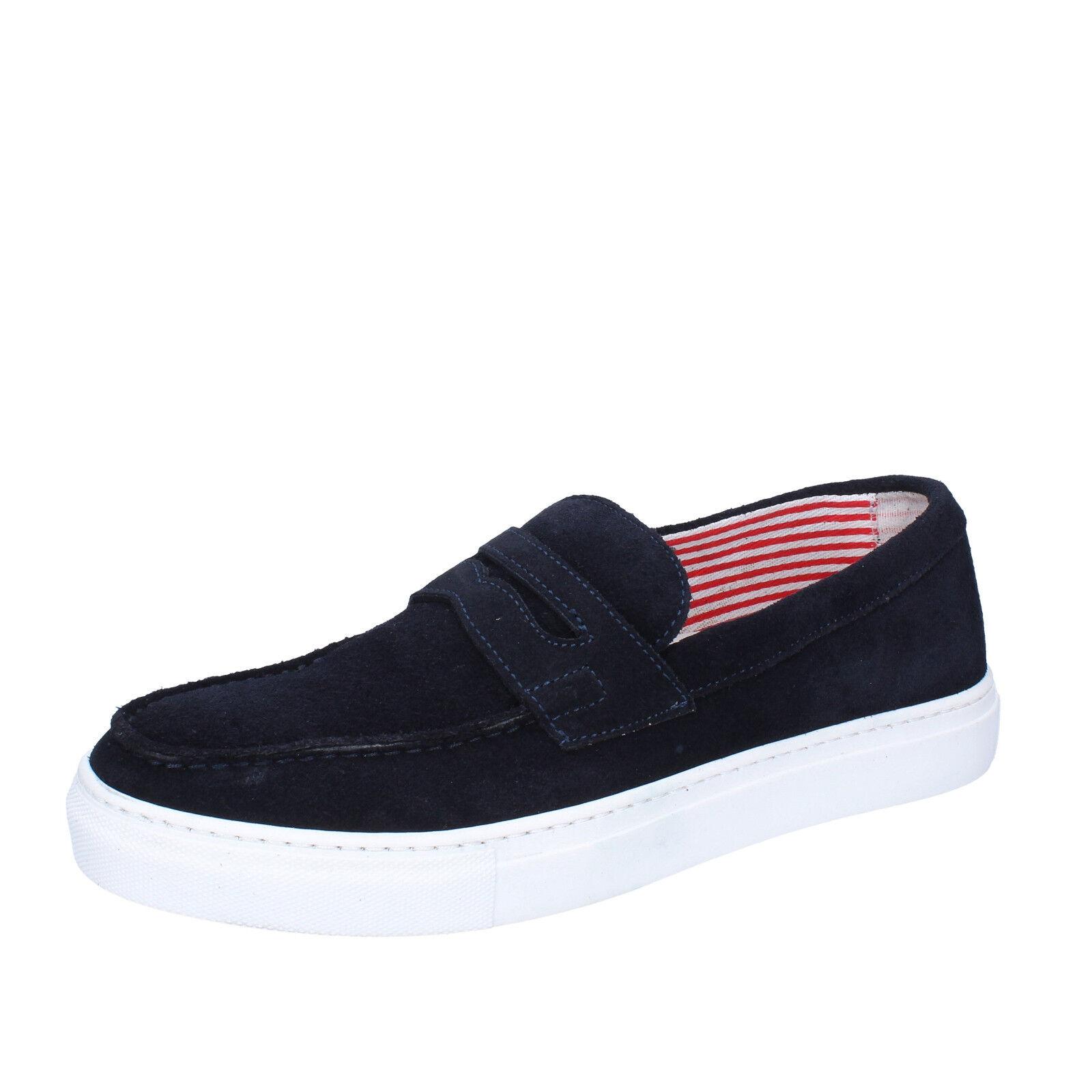 Men's shoes DI MELLA 9 (EU 42) loafers bluee suede AB996-C