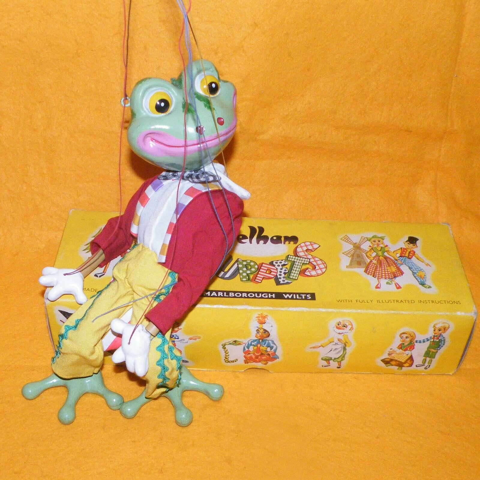 VINTAGE PELHAM PUPPETS FROG SL 63 (ANIMAL) HAND MADE PUPPET BOXED RARE