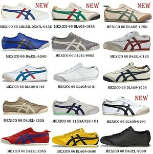 Scarpe-ONITSUKA-TIGER-MEXICO-66-D2J4L-D5V1L-DL408-D4J2L-D507L-limitata-Leather-USA