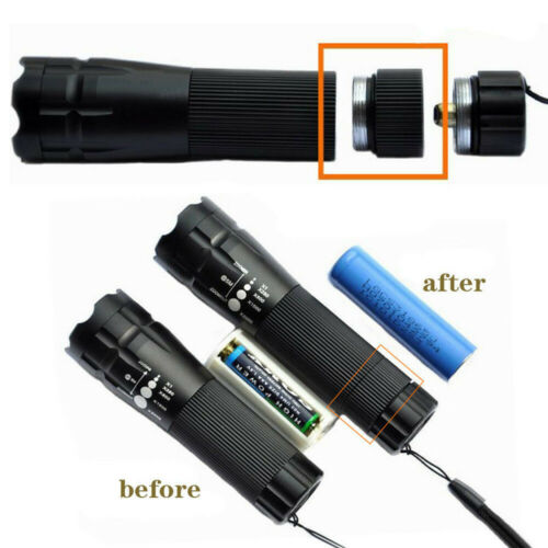 Details about  /Hot Extension Tube For Flashlight Torch 18650 Battery Extended Lengthen Fitting