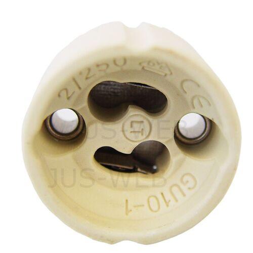 40x GU10 Lampen Fassung mit Aderendhülsen Sockel Halogen LED Fassungen 40 Stück