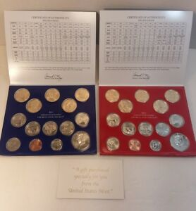 2011-P-amp-D-US-Mint-Uncirculated-28-Coin-Set-pre-owned
