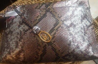 Jane Shilton Snake Skin Shoulder Bag Borsa Nuova Con Etichetta-